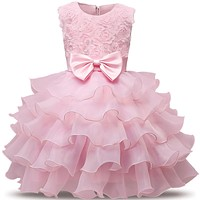 Baby Girl Formal Wear Dress Children Kids Prom Dresses For Girls Clothes Flower Girl Party Dress Wedding Ball Gown 5 6 7 8 Years