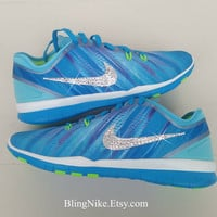 Bling Nike Free 5.0 TR FIT With Swarovski Crysral Rhinestones - Blibg Nikes, Bling Shoes, Blinged Out Nikes