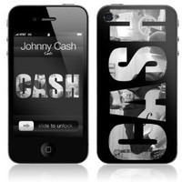 Zing Revolution MS-JC20133 Johnny Cash - Cash Cell Phone Cover Skin For iPhone 4/4S