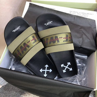 shosouvenir OFF WHITE C/O VIRGIL ABLOH 19SS Arrow letters slippers
