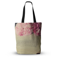 """Cristina Mitchell """"A Good Read"""" Pink Tan Everything Tote Bag"""