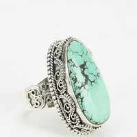 Urban Outfitters - Adorn By Sarah Lewis Turquoise Filigree Ring