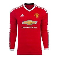 Adidas Manchester United FC Home Long Sleeve Jersey-REARED