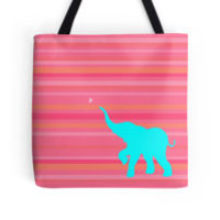 'Baby Elephant' Tote Bag by rachels1689