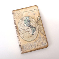Travel Journal, Old World Map, Travel Notebook, Adventure, Compass, Antique Map, Travel Log, Vacation Journal
