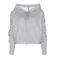 adidas by stella mccartney - studio jersey hooded top