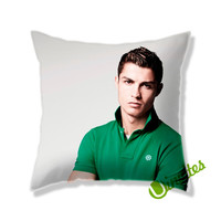 Cristiano Ronaldo Green Shirt Square Pillow Cover