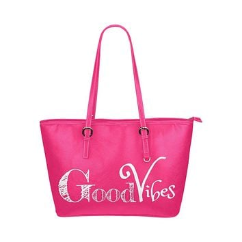 Womens Good Vibes Pink Tote Bag