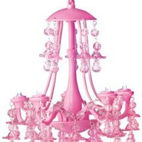 Pink Locker Chandelier