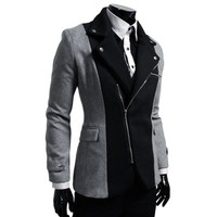 HBZ TheLees Mens casual rider style slim zipper Jacket