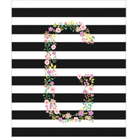 Personalized Pocket Folder - Horizontal Lines and Garden Party