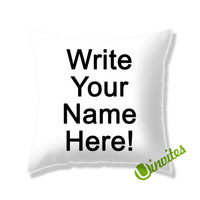 Write Your Photo Here! Square Pillow Cover