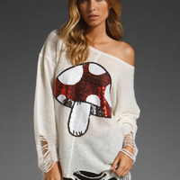WILDFOX COUTURE Fairyland Lennon Sweater in Cream at Revolve Clothing - Free Shipping!