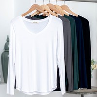 Long Sleeve V-Neck Basic Top