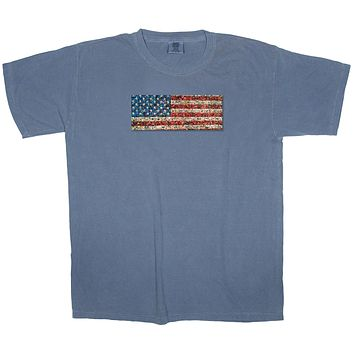 Lakes and Forests: USA Pride American Flag Patch T-shirt