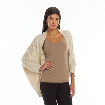 GV Editions Cable-Knit Cocoon Cardigan - Women's