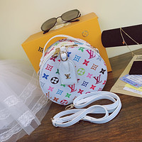 LV Louis Vuitton canvas women's round cake bag handbag shoulder bag