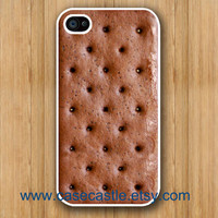 Ice Cream Sandwich on White Iphone 4 case Iphone 4S by CaseCastle