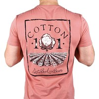 Cotton Field Pocket Tee in Rustic Red by Cotton 101