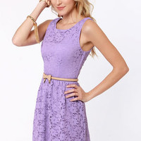 Birthday Party Lavender Lace Dress