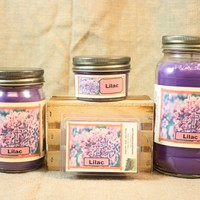 Lilac Candle, Scented Candles and Wax Melts, Highly Scented Floral Candles and Wax Tarts, Springtime Scent, Candle for Mom, Mothers Day Gift
