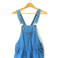 20% OFF SALE vintage 80s bib overalls dress • jean dress • Osh Kosh bibs dress