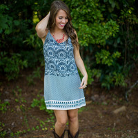 Abstract Print Gameday Dress in Black