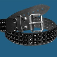 3 Row Black Pyramid Belt 42371