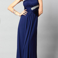 One Shoulder full-length sequins evening dress from Girlfirend