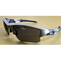 Tagre New Oakley Men's Flak Jacket XLJ Dark Grey W/ Grey Lenses 42-294 w/ pouch NIB