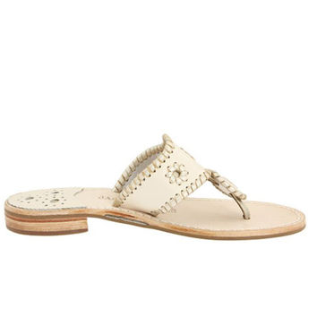 Jack Rogers Palm Beach Platinum Navajo - Cream Sandal