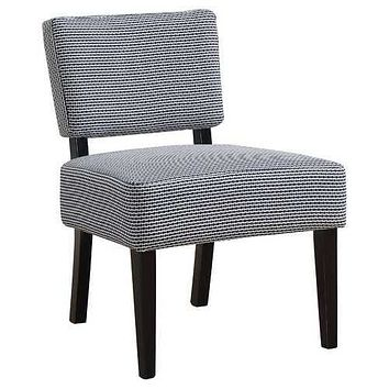 """27'.5"""" x 22'.75"""" x 31'.5"""" Blue, Foam, Solid Wood, Polyester - Accent Chair"""