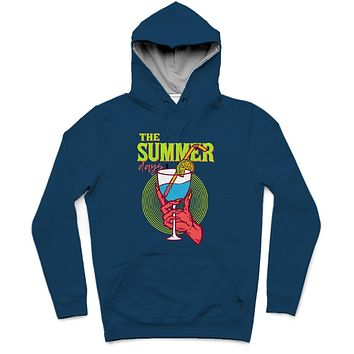 The Summer Days Trendy All-Over Print Solid Cyprus Hoodie