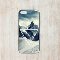 SNOWY MOUNTAINS snoboard ski triangle hipster design trendy phone case for iPhone 4 4S 5S 5C and samsung Galaxy S3 S4 cell accesories