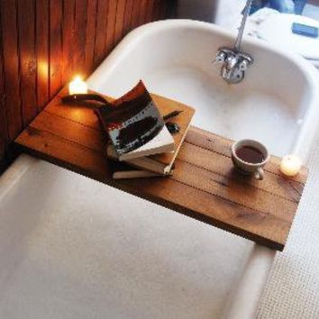 Tub Caddy made of Reclaimed Oak from a Broken Down by PegandAwl