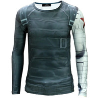 Winter Soldier Slim Fit Quick Dry Long Sleeve T Shirt