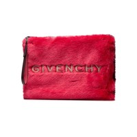 Pink Red Faux Fur Pouch by Givenchy
