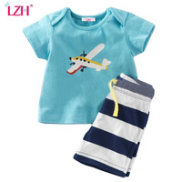 LZH Toddler Boys Clothing Sets 2017 Summer Baby Boys Clothes Set T-shirt+Shorts Kids Clothes Sport Suit For Boy Children Clothes
