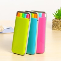 5 colors/box Candy color highlighter pen set Mini fluo markers Stationery office School supplies Caneta fluorescente 6158