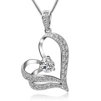 new lover couple Heart necklaces pendant for women