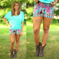 Party Animal Patterned Shorts