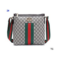 """GUCCI"" casual classic embossed striped shoulder bag big crossbody bag 2#"