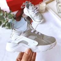 Nike Air Huarache Child Shoes White Silver Toddler Kids Shoes