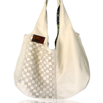 BAHA. Leather boho bag / leather tote bag / hobo bag / leather  slouchy bag / bohemian leather bag. Available in different leather colors.