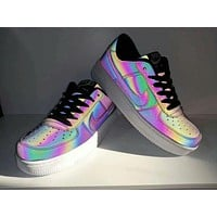 Nike Air Force 1 Casual Fashion Chameleon Low Help Plate Shoes Couple Sneakers