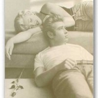 """James Dean & Marilyn Monroe - Personality Poster (Lounging) (Size: 24"""" x 36"""")"""