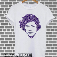 One Direction Shirt 1D T-shirt Harry Styles Typhogarphy Tshirt Printed White Color Unisex Size - AR43