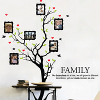 Family Tree with custom photos - decal for housewares