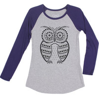 Owl Be Watching You T-Shirt in Navy