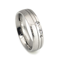 Hand crafted design titanium Wedding ring